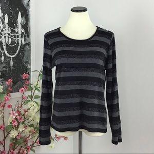 Karl Lagerfeld Metallic Stripes Sweater